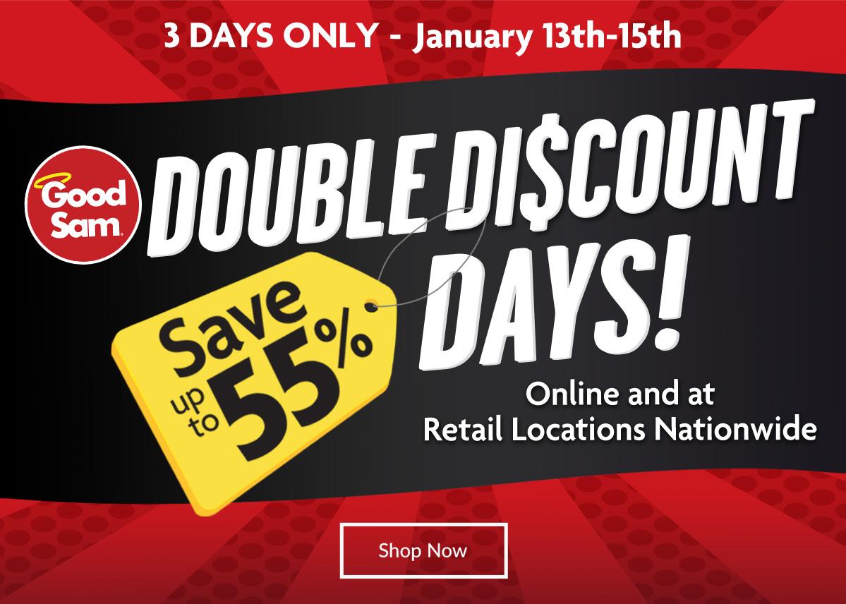 Good Sam Double Discount Days